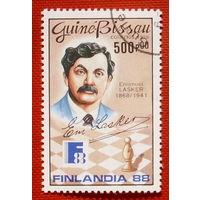 Гвинея-Бисау. Шахматы. ( 1 марка ) 1988 года.