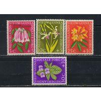 NL Колонии Нидерландская Новая Гвинея (Индонезия) 1959 Эндемические цветы Полная #57-59**