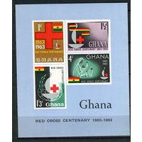 Гана - 1963 - Красный крест - [Mi. bl. 8] - 1 блок. MNH.