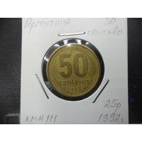 50 сентаво Аргентины 1992 года. 1