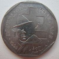 Франция 2 франка 1993 г. Жан Мулин (g)