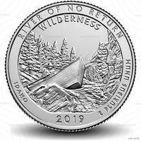 25 центов США 2019 г.  50 парк резерват имени Фрэнка Черча D