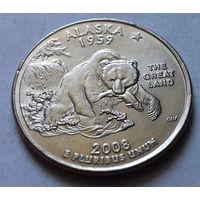 25 центов, квотер США, штат Аляска, D
