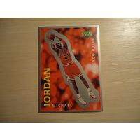 РАСПРОДАЖА ВСЕГО!!! Наклейка # 205 Майкл Джордан для альбома Upper Deck NBA 97-98