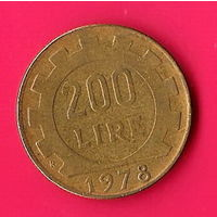 49-13 Италия, 200 лир 1978 г.