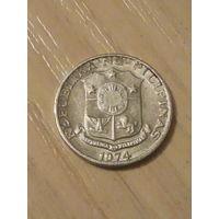 Филиппины 1 сентимо 1974г.