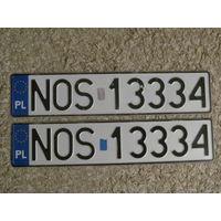 Автомобильный номер Польша NOS13334