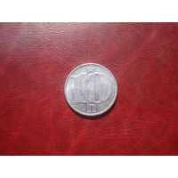 10 геллеров 1976 год Чехословакия