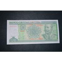 Куба 5 песо образца 2017 года UNC p116