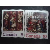 Канада 1976 Рождество, витражи