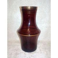 Вазочка 17,5 см марганцевое стекло