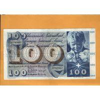 Швейцария  100 франков  1963г.