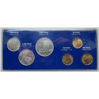 Аргентина. Набор монет, посвященных чемпионату мира по футболу 1978 года. 1000, 2000 и 3000 песо серебряные. В оригинальном блистере. Состояние UNC!