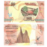 Мадагаскар 500 ариари 2017 год ПЛАСТИК ПРЕСС из пачки UNC