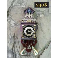 """Старинные / Голландские / Настенные / Механические Часы """"ZAANSE CLOCK"""" СРЕДНИЕ #2 (restored)"""