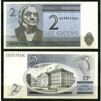 Эстония. 2 кроны. 1992. UNC
