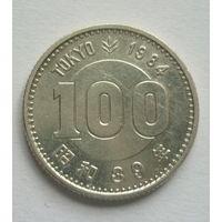 Япония 100иен 1964г.Олимпиада.Серебро.