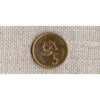 Марокко 5 сантимов 1974 ФАО//рыба/фауна//(GB)/