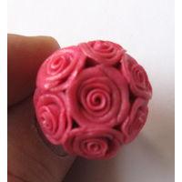 Кольцо ручной работы с розами
