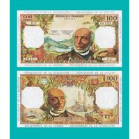 [КОПИЯ] Фр. Антилы 100 франков 1964 г.