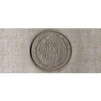 Либерия 1 доллар 1966 //MY/