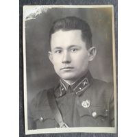Фото военного. 1941 г. г.Быхов. 8х12 см