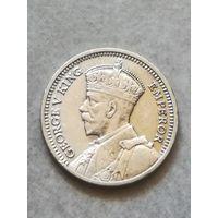 Новая Зеландия первые 3 Пенса 1933г серебро