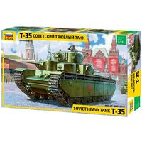 ЗВЕЗДА 3667 - Тяжелый Советский Танк Т-35 / Сборная модель 1:35