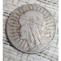 С 1 рубль Монета Польша Ядвига 5 Злот 1933