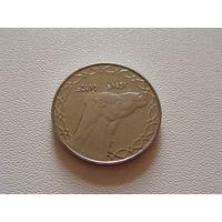 """Алжир. 2 динара 2010 год  КМ#130 """"Одногорбый верблюд"""""""