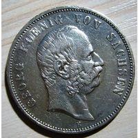 Германия 5 марок 1903 г. Саксония.