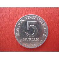 Индонезия 5 рупий   1974