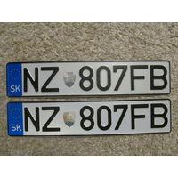 Автомобильный номер Словакия NZ807FB