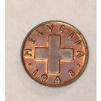 Швейцария, 1 раппен 1948