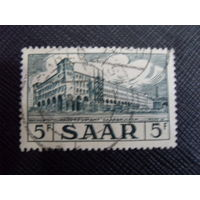 Саар 1954 Главпочтамт. Saar - Mi:DE-SL 323