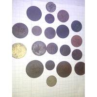 Сборный лот монет 20 шт.