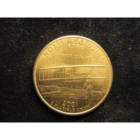 СЕВЕРНАЯ АМЕРИКА 25 центов (квотер), 2001 г., Р, Штат Северная Каролина (North Carolina), (США), VF