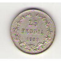 25 пенни 1909 год_состояние XF