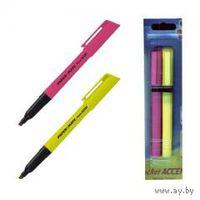 Выделители (набор) Paper Mate Pocket Accent скошенные, жёлтый и розовый