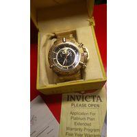 """Часы """"INVICTA"""" ОРИГИНАЛ МАССИВНЫЕ (малоношеные) коробка документы браслет"""