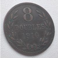 Гернси 8 дублей, 1910 выпуск-91 000 6-6-8