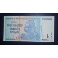 Зимбабве 100 триллионов долларов 2008 UNC!!!