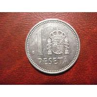 1 песета 1985 год Испания