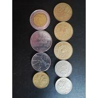 Италия лот монет  1957-1995 юбилейные
