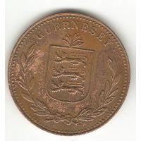 БОЛЬШАЯ МОНЕТА ГЕРНСИ. 8 ДУБЛЕЙ 1949