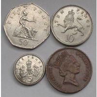 Великобритания, 4 монеты