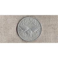 Новая Каледония 5 франков 1994/птица(Li)  уу