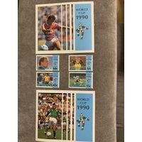 Доминика 1990. Чемпионат мира по футболу Италия-90. Полная серия