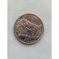 25 центов США 2006 штат Колорадо Р