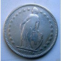 Швейцария. 2 франка 1894 г. Первый год чеканки.